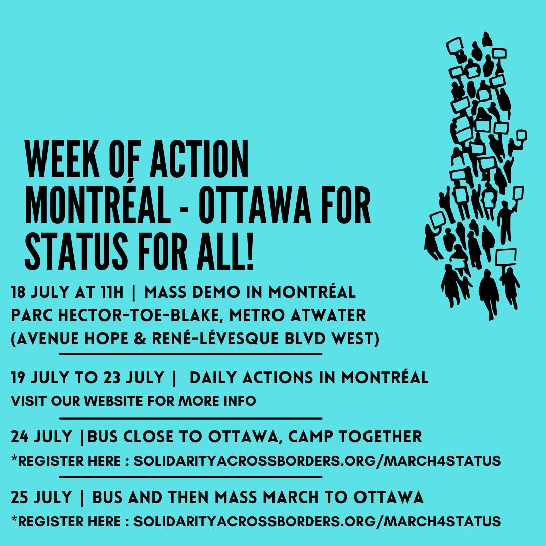Week of Action Montreal – Ottawa for Status for All!