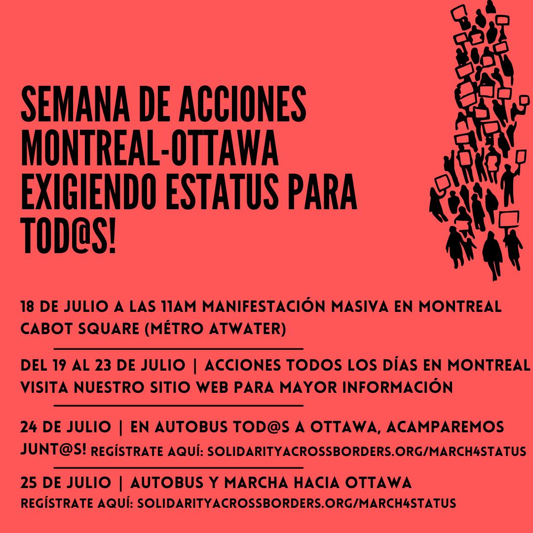 Semana de Acciones Montreal – Ottawa