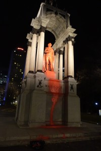Colonial & Racist John A. Macdonald Monument defaced in Montreal (with video and photos)