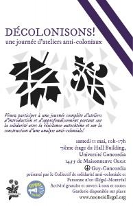 DÉCOLONISONS! Une journée d'ateliers anti-coloniaux
