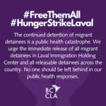 Letters of Support from Coast to Coast for Detainees' Hunger Strike