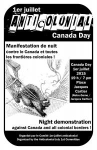 (July 1) Anticolonial night demonstration