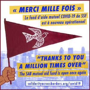 """Un millon de gracias"" – Our COVID-19 mutual aid fund is open once again"