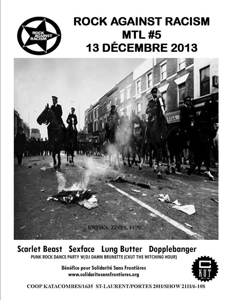 Rock Against Racism: Une soirée bénéfice pour Solidarité sans frontières