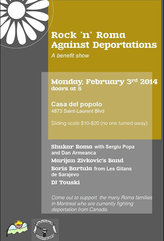 (February 3) Rock 'n' Roma against deportations: A benefit show