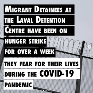 Gallery of Support from Coast to Coast for Detainees' Hunger Strike