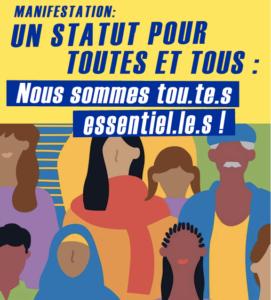 4 juillet : Grande Marche pour Un statut pour toutes et tous ! Tout le monde est essentiel !