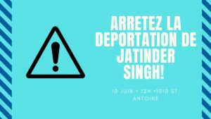 Stop Jatinder's Imminent Deportation to India!