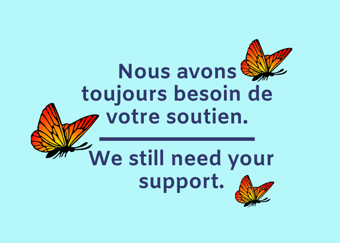 Collecte de fonds COVID-19 | Nous avons toujours besoin de votre soutien