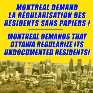 City of Montreal Calls for Regularization of Non-Status Migrants
