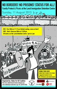(August 11) No Borders, No Prisons! Status for All! Rally & Picnic at the Laval Immigration Detention Centre