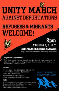 Posters & Flyer for the Unity March Against Deportations (please share)