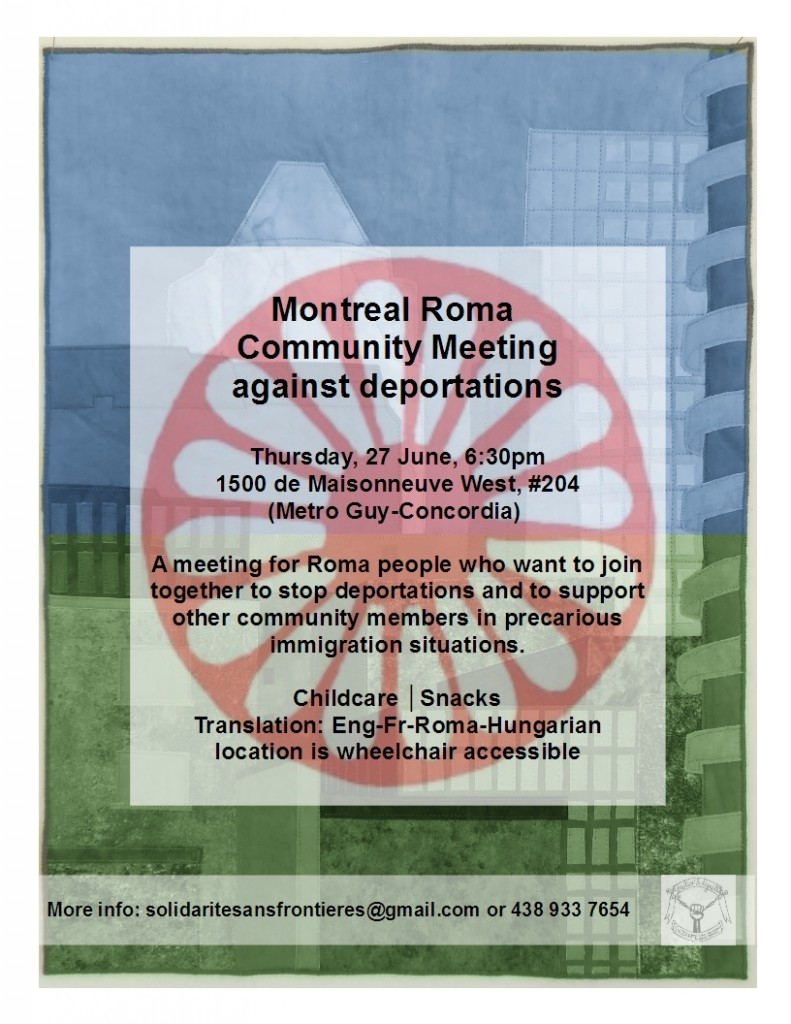 Montreal Roma Community Meeting against deportations / Rrom protiv deportaciya