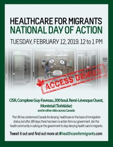 Access to Health Care for Migrants – Montreal Demonstration (National Day of Action)