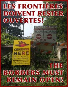 La Frontera Debe Permanecer Abierta! Lxs Refugiadxs son Bienvenidxs!