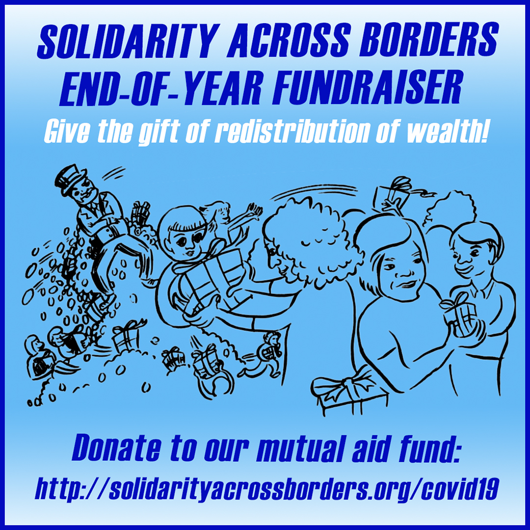 End of year fundraiser: Give the gift of redistribution of wealth!